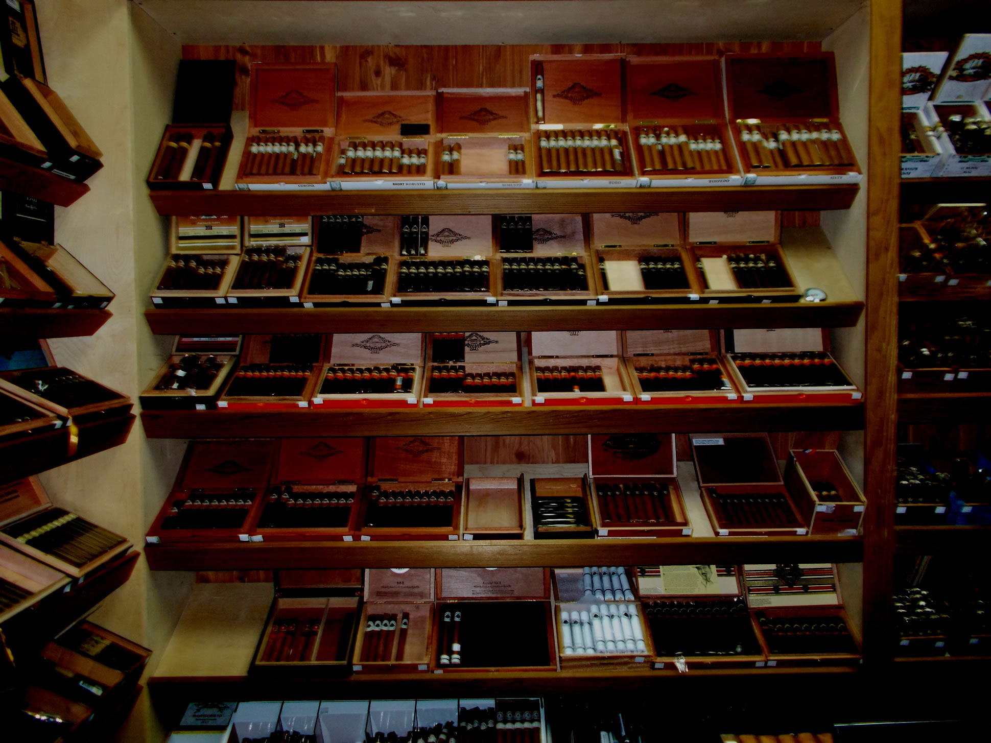 A WALK-IN HUMIDOR STOCKED FROM FLOOR TO CEILING